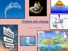 Topic 2 - Climate Change