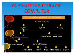 CLASSIFICATION OF COMPUTER