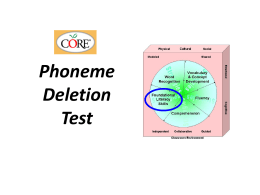 Phoneme Deletion Test