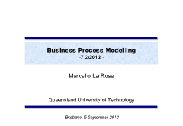 Process Modelling with BPMN