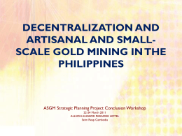 decentralization and artisanal and small-scale gold mining