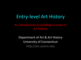 Entry-level Art History - Art and Art History Department