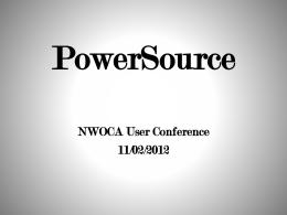PowerSource - NWOCA Wiki