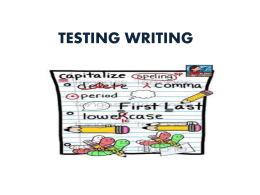 testing writing