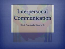 Komunikasi interpersonal - communication management