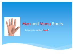 Man and Manu Roots powerpoint game