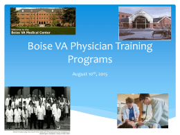 Boise VA Physician Training Programs