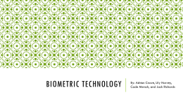 Biometric Sciences