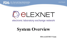 eLEXNET: Integrating the Food Safety System
