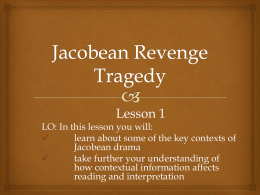 Jacobean Revenge Tragedy