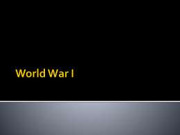 World War I - Lewis County Schools