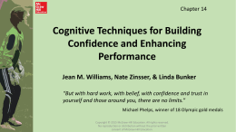 Cognitive Techniques for Building Confidence