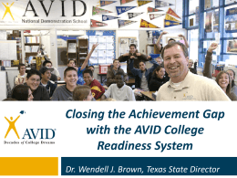 AVID - Advancing Improvement In Education Conference