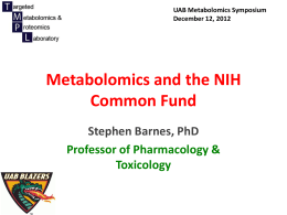 Metabolomics and NIH Common Fund