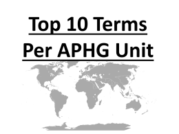 Top 10 Terms Per AP Human Geography Unit