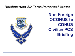 AFPC CC Approved Template - Air Force Civilian Service