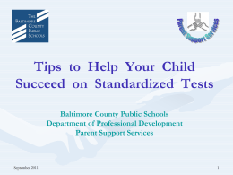 Tips to Help Boost Performance on Tests