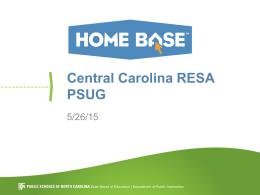 Central Carolina RESA PSUG