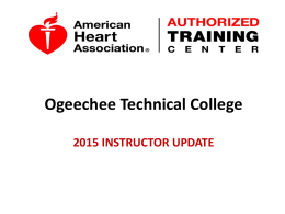 2015 Instructor Update - Ogeechee Technical College!