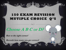 exam revision mutiple choice