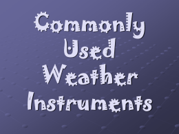 Why do we need weather instruments?