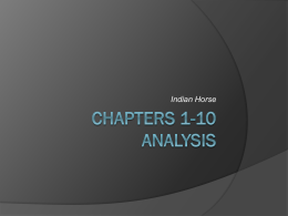 Chapters 1-10 Analysis