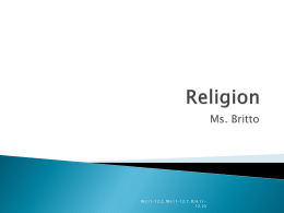 Religion - MsBrittoAPHuG