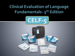 CELF-5 tutorial