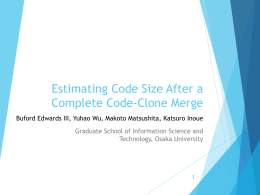 Estimating Code Size After a Complete Code
