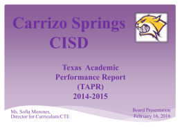 AEIS - Carrizo Springs CISD