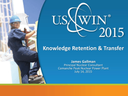Knowledge Retention - US Women in Nuclear