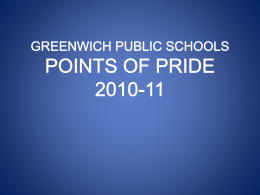 POINTS OF PRIDE GREENWICH PUBLIC SCHOOLS