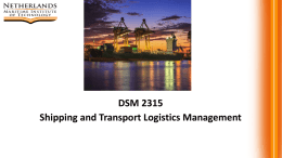 DSM 2315 Shipping and Transport Logistics