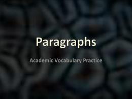 Paragraph Practice PPT