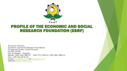 The Economic and Social Research Foundation