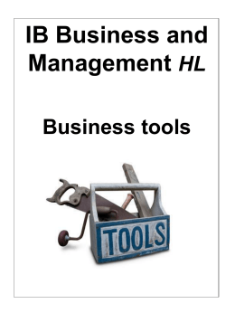Guide to IA Business Tools (HL)