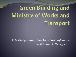 Green Building and Ministry of Works and Transport