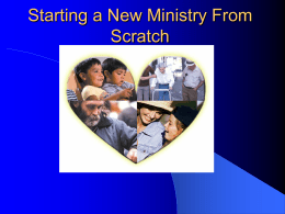 Starting a New Ministry from Scratch