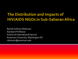 The Distribution and Impacts of HIV/AIDS NGOs in Sub