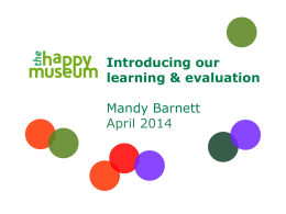 Slide 1 - Happy Museum Project