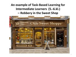An example of Task-Based Learning for Intermediate Learners (5.