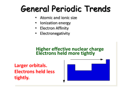 General Periodic Trends - Mrs. Ellis` Science Class!