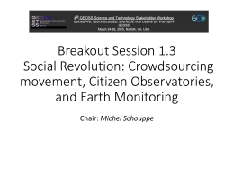 Breakout Session 1.3 Social Revolution