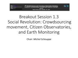 Breakout Session 1.3 Social Revolution