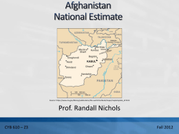 Afghan Nat Est Final Rev6 1211 RKN Rev 1 1208