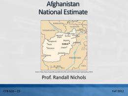 Afghan Nat Est Final Rev6 1211 RKN Rev 1 1208