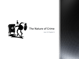 6.2 The Nature of Crime