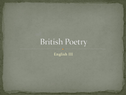 British Poetry - greermiddlecollege.org