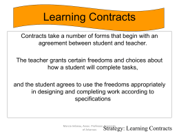 Choice Boards and Learning Contracts