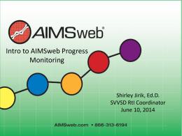 AIMSweb *Crash Course*